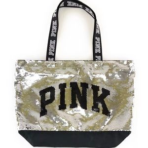 [Victorias Secret] PINK Logo Sequin Tote NWOT